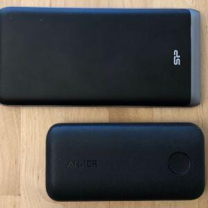Top: Silicon Power QP65. Bottom: Anker PowerCore 10000 PD Redux.
