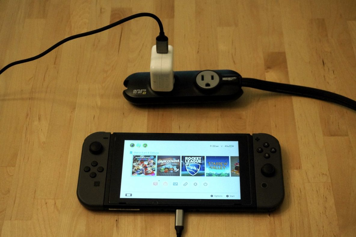Apple 12W USB Charger with Nintendo Switch