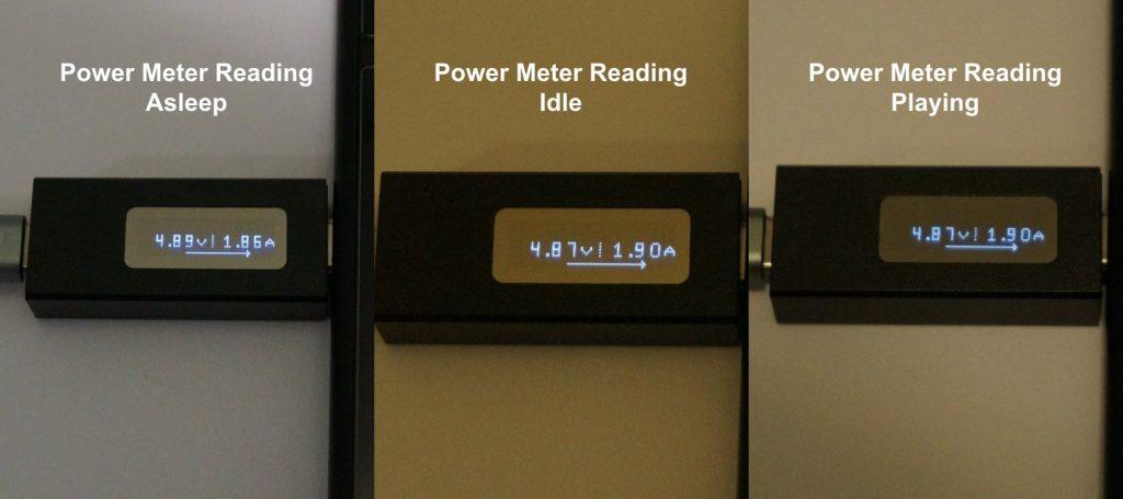 Power meter readings
