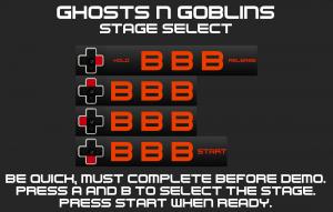 Ghosts n Goblins Stage Select Code