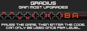 Gradius-Konomi Cheat Code