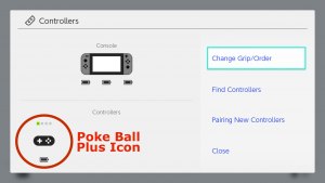 Poke Ball Plus icon, under controller settings.