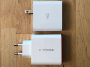 Top: ZMI Power Plug Turbo. Bottom: BlitzWolf BW-PL4.