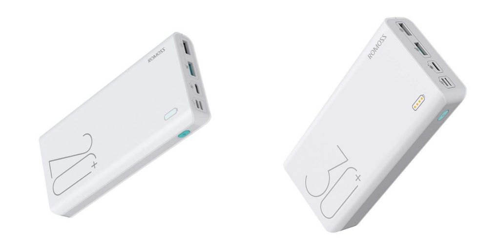 ROMOSS Sense 6+ and Sense 8+ QC Type-C power banks.
