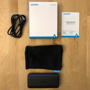 Anker PowerCore 10000 PD box and contents