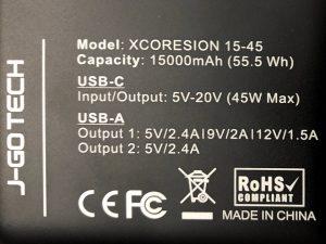 J-Go Tech XCORESION 15-45 specs