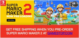 Super Mario Maker 2 GameStop Pre-Order