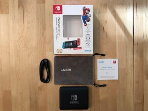 Anker PowerCore 13400 Nintendo Switch Edition box and contents
