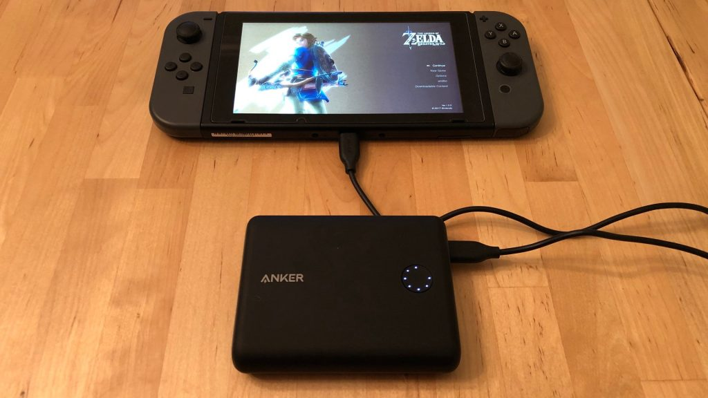 Anker PowerCore 13400 Nintendo Switch Edition with Nintendo Switch