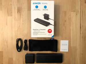 Anker PowerCore Speed 20000 PD box and contents