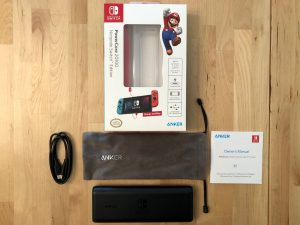 Anker PowerCore 20100 Nintendo Switch Edition box and contents