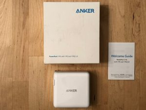 Anker PowerPort II PD box and contents