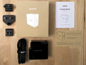 Inateck 60W PD Charger with Dual USB-C box and contents
