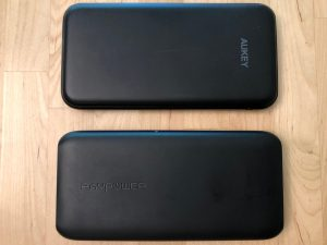 Top: AUKEY PB-Y13 10000 PD. Bottom: RAVPower 10000 USB-C.