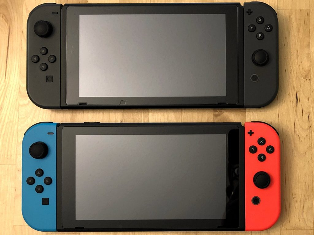 Compare Nintendo Switch Models, Front