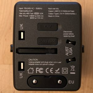 Amoner Universal Travel Adapter world plugs and specs