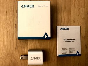 Anker PowerPort III Nano box and contents