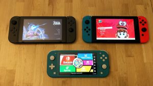 Original Nintendo Switch, new Nintendo Switch, and Nintendo Switch Lite