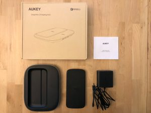 AUKEY Graphite Charging Hub box and contents