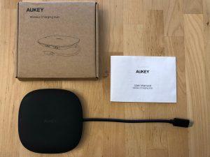 AUKEY CB-C70 Unity Wireless 100W box and contents