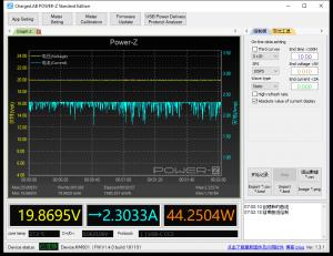 MacBook Pro 13-inch power meter, through AUKEY hub