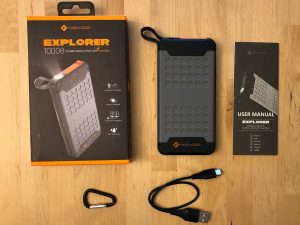 Novoo Explorer 10000 box and contents
