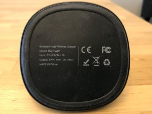 BlitzWolf BW-FWC6 10W Qi Wireless Fast Charger Stand specs