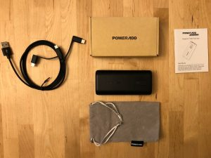 PowerAdd Energy Cell II 10000 box and contents