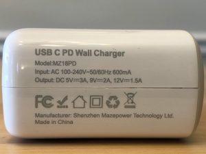 ZeaLife 18W USB-C PD specs