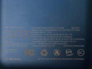 ZMI PowerPack 20K Pro specs