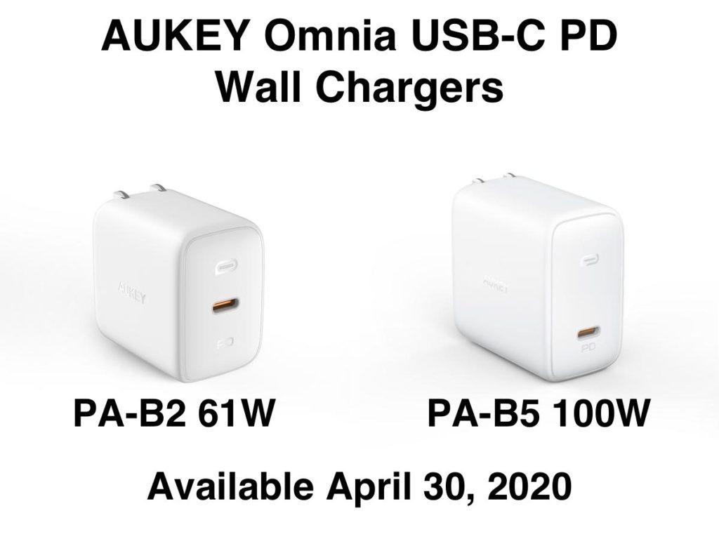 AUKEY PA-B2 Omnia 61W and AUKEY PA-B5 Omnia 100W