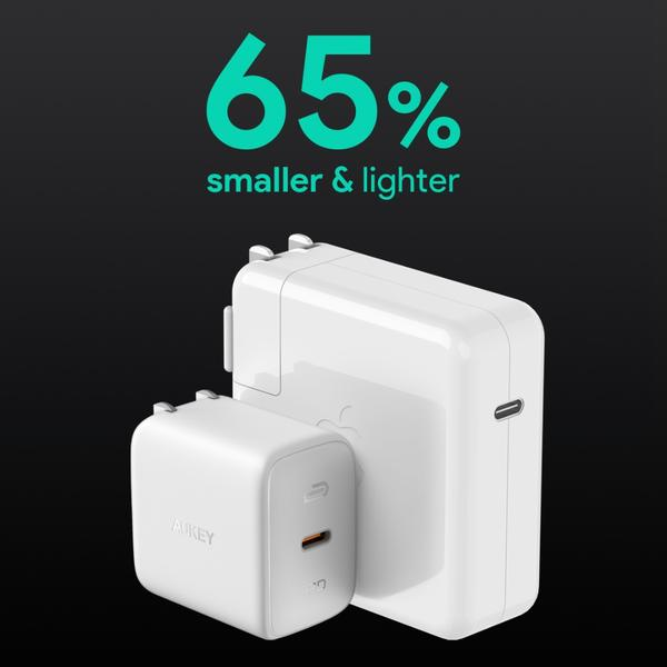 AUKEY PA-B2 Omnia 61W compared to Apple 61W power adapter