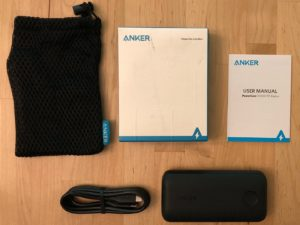 Anker PowerCore 10000 PD Redux box and contents