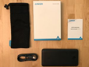 Anker PowerCore Essential 20000 PD box and contents