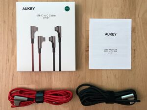 AUKEY CB-CMD38 USB-C Cable box and contents