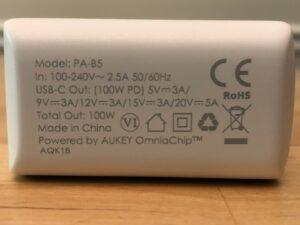 AUKEY PA-B5 Omnia 100W specs
