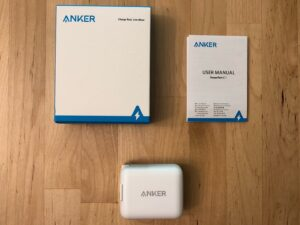 Anker PowerPort C 1 box and contents