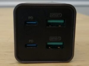 RAVPower PD Pioneer 65W 4-Port Desktop ports