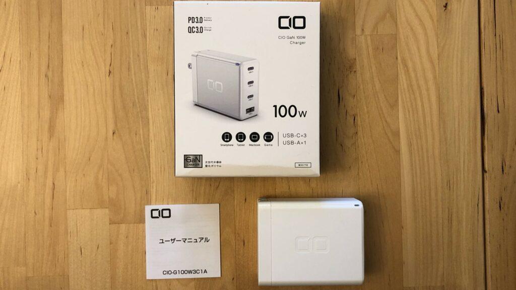 CIO 100W USB-C GaN box and contents