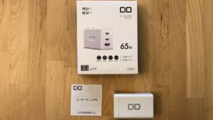 CIO 65W USB-C GaN box and contents