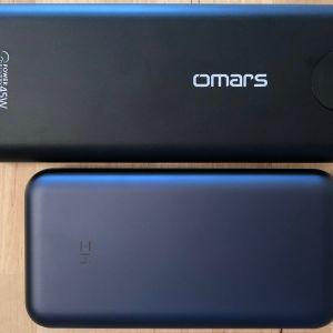 Top: Omars PowerSurge 20000 45W USB-C PD. Bottom: ZMI PowerPack 20000.