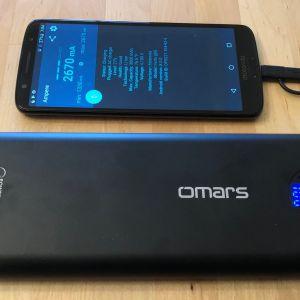 Omars PowerSurge 20000 45W USB-C PD with the Moto G6