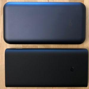 Top: ZMI PowerPack 20000. Bottom: Xiaomi Mi Power Bank 3.