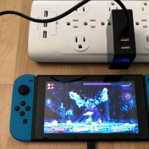 Inateck 45W 3-Port USB-C with Nintendo Switch