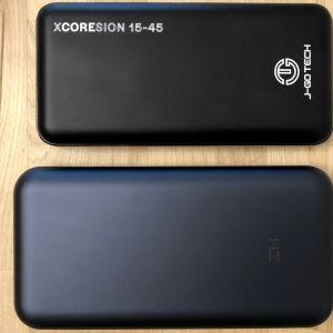 Top: J-Go Tech XCOREsion 15-45. Bottom: ZMI PowerPack 20000.