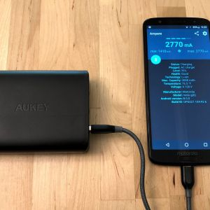 AUKEY PA-Y13 46W PD Charging Station with Moto G6