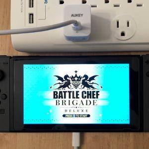 AUKEY PA-Y18 18W PD with Nintendo Switch