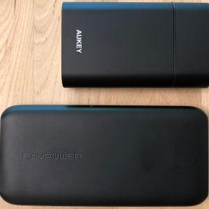 Top: AUKEY PB-Y12 10000 USB-C. Bottom: RAVPower 10000 USB-C.