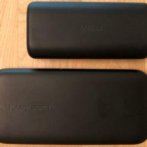 Top: Anker PowerCore 10000 PD. Bottom: RAVPower 10000 USB-C.