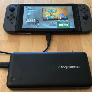 RAVPower PD Pioneer 26800 with Nintendo Switch